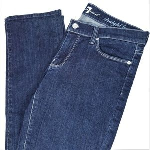 7FAMK 7 For All Mankind Straight Leg Jeans Dark 30